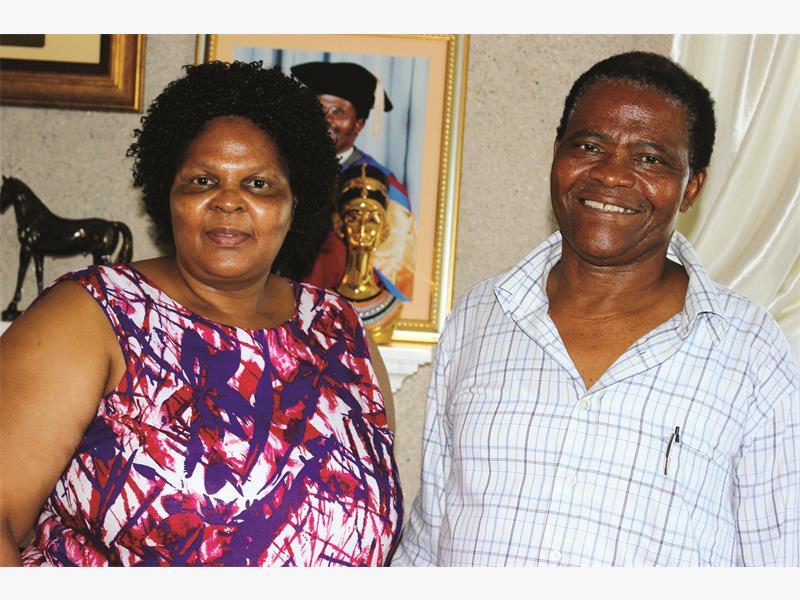 PARTNERS. Joseph Shabalala and his wife, Thoko.