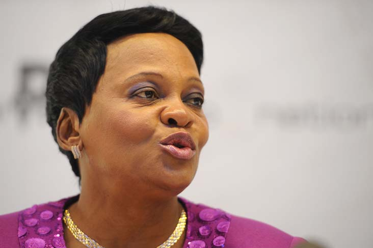 FILE PICTURE: Minister of Water and Sanitation  Nomvula Mokonyane. Pictures: Refilwe Modise.