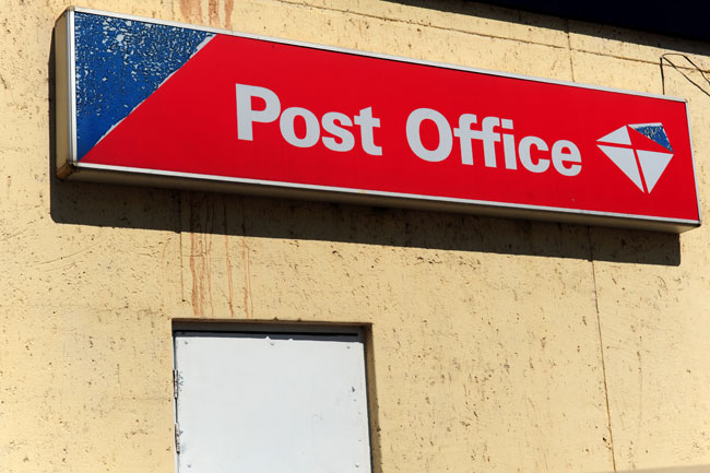 FILE PICTURE: A post office sign. Picture: Tracy Lee Stark