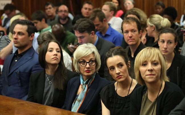Oscar Pistorius court room. PHOTO: Pool