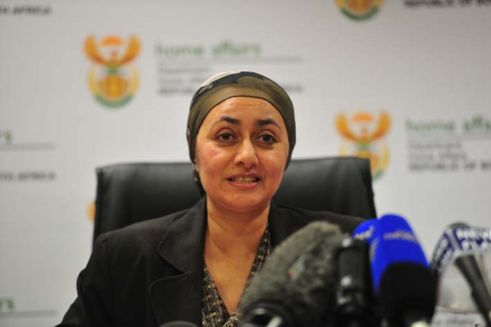 FILE PICTURE: Deputy Minister of Home Affairs Fatima Chohan. Picture: Christine Vermooten
