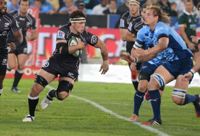 Marcell Coetzee of the Sharks during the Super Rugby match between Vodacom Bulls and Cell C Sharks at Loftus Versfeld on March 22, 2014 in Pretoria, South Africa. (Photo by Lee Warren/Gallo Images)