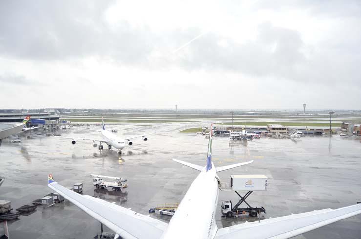 At OR Tambo International Airport. Picture: Valentina Nicol