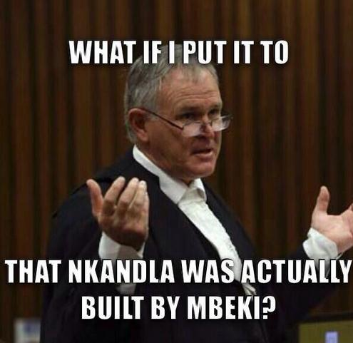 This meme with Barry Roux and Nkandla has become an instant social media hit.