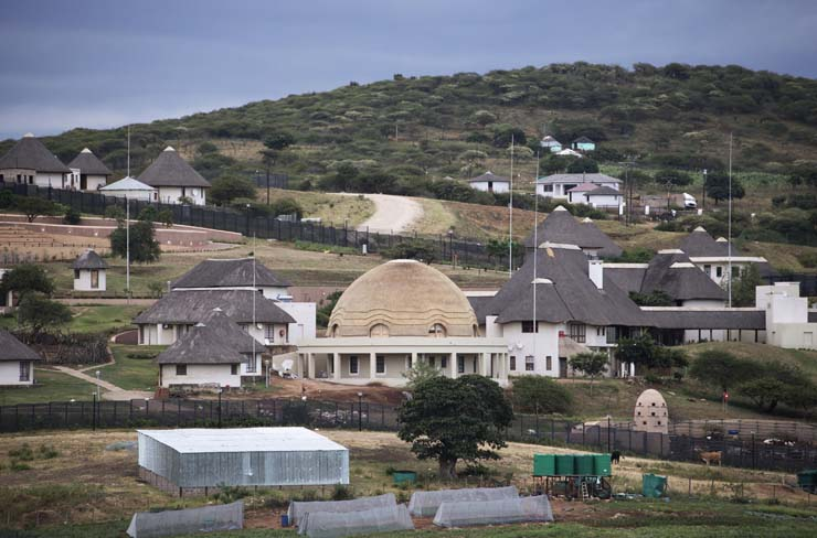 FILE PICTURE: A view of the controversial homestead of President Jacob Zuma in Nkandla on January 21, 2014. AFP PHOTO / MARCO LONGARI