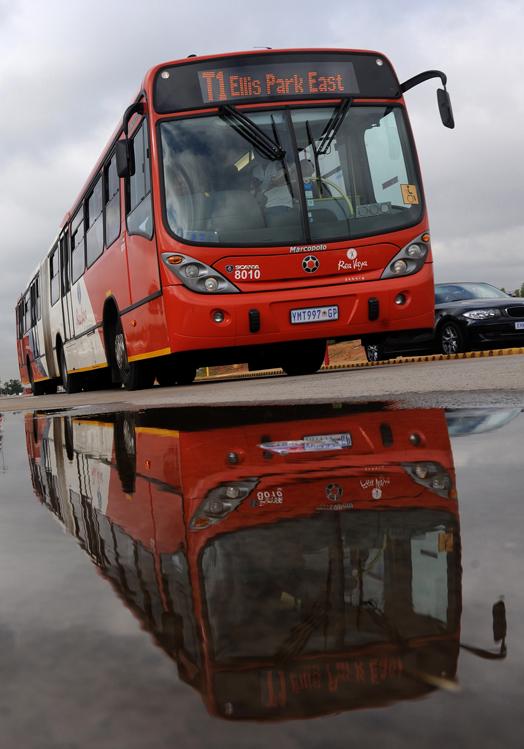 FILE PIC. Rea Vaya buses in Soweto. Picture: Michel Bega