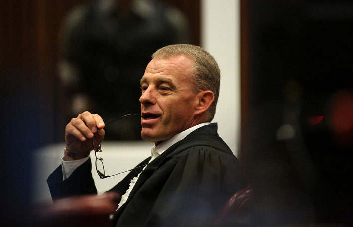 FILE PICTURE: State prosecutor Gerrie Nel is seen during the murder trial of paralympic sprinter Oscar Pistorius at the North Gauteng High Court in Pretoria, Tuesday, 15 April 2014. Picture: Siphiwe Sibeko/Reuters/Pool