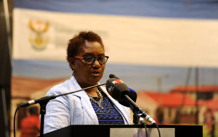 Human Settlements Minister Connie September launches an initiative to speed up transformation in the real estate agency sector in Johannesburg, Thursday, 24 April 2014. September welcomed the