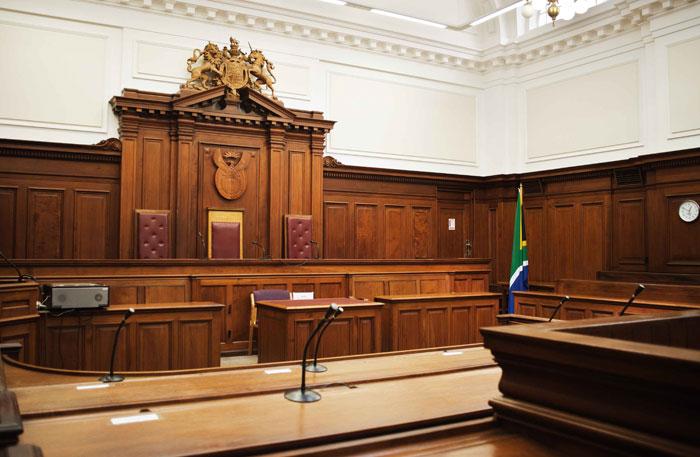 Cape Town Courtroom. AFP PHOTO/GIANLUIGI GUERCIA