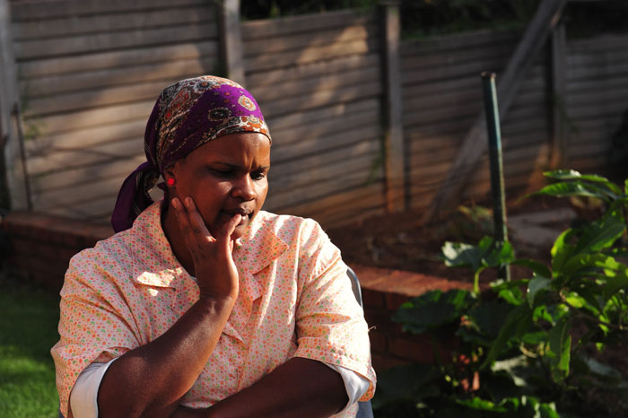 Emmah Layi Motsoene (34), a domestic worker in Pretoria. Picture: Christine Vermooten