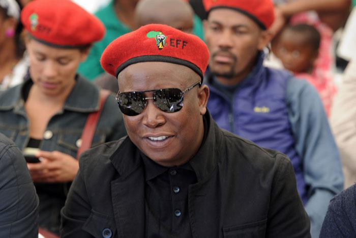 FILE PIC: Julius Malema, leader of EFF. AFP PHOTO