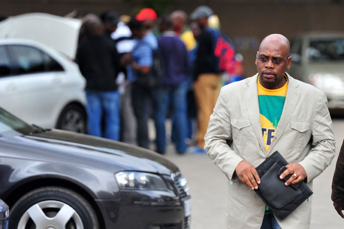 FILE PICTURE: Sdumo Dlamini arrives at the COSATU provincial shopsteward council held at Wembly stadium in Turffontein, 9 April 2014. Picture: Neil McCartney