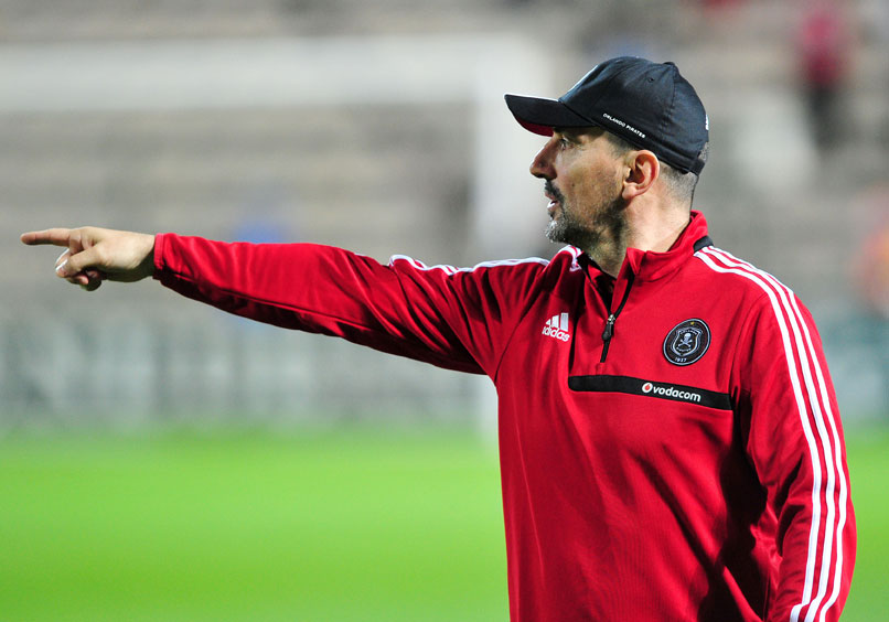 FILE PICTURE: Vladimir Vermezovic (head coach) of Orlando Pirates during the 2014 Nedbank Cup game between Santos and Orlando Pirates at Athlone Stadium, Cape Town on 21 March 2014 ©Ryan Wilkisky/BackpagePix