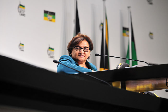 Deputy Secretary General of the ANC, Jessie Duarte during a media briefing at Chief Albert Luthuli house in the Johannesburg CBD, 20 May 2014. Picture: Neil McCartney