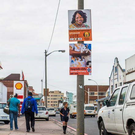 The NSPCA 'election poster' that was put up in Durban on Tuesday. Image courtesy facebook.com/NSPCA