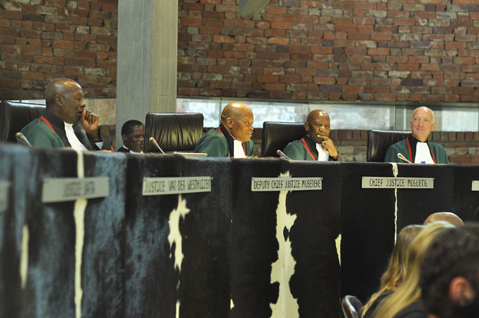 The Constitutional Court in Johannesburg, 6 May 2014, rules an application declared part of the Sexual Offences Act unconstitutional, to be constitutionally invalid. Picture: Valentina Nicol