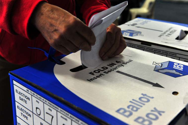FILE PICTURE: People cast their vote. Picture: Neil McCartney