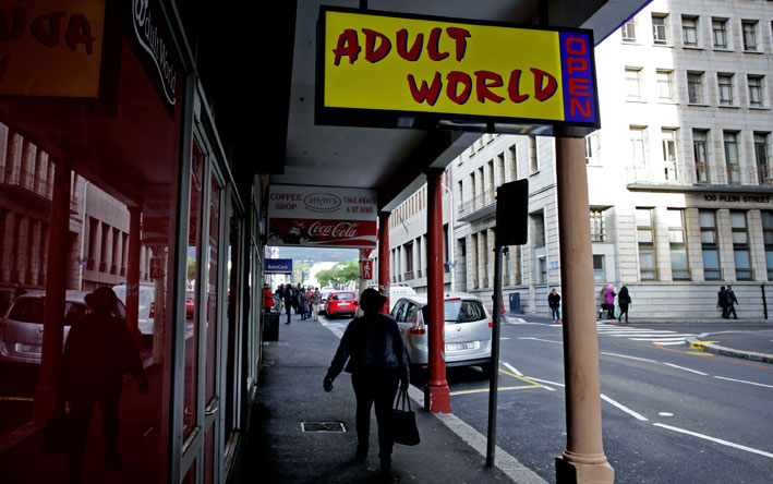 Business is booming for a newly opened sex shop near Parliament in Cape  Town.