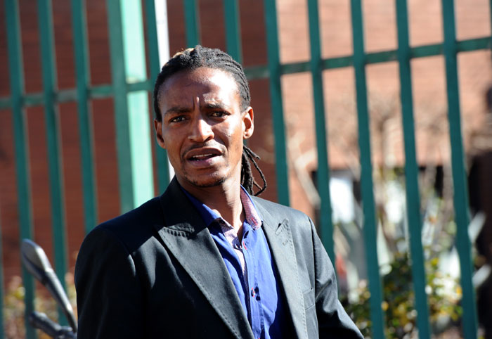 Kwaito musician Sipho Charles Ndlovu leaves the Roodepoort Magistrate's Court on Thursday, 26 June 2014 where he appeared in connection wtih the rape of a 17-year-old girl. The matter was postponed to July 8 for Ndlovu to raise funds to pay his legal team. Ndlovu, known as Brickz in the music industry, was arrested in November for allegedly raping the girl. The rape reportedly occurred in March last year. Picture: Werner Beukes/SAPA