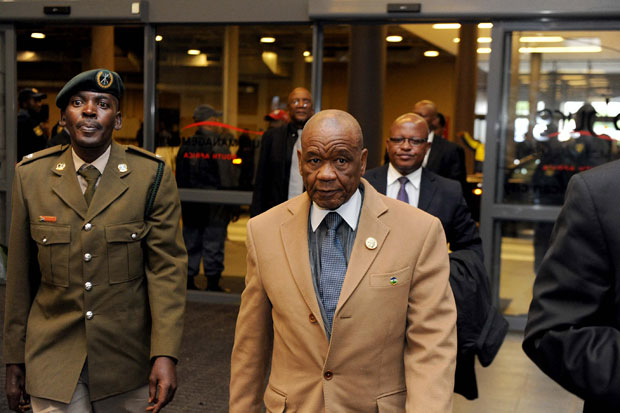 FILE PICTURE: Lesotho Prime Minister Tom Thabane arrives at the FNB stadium ahead of the memorial service. (Photo: GCIS)