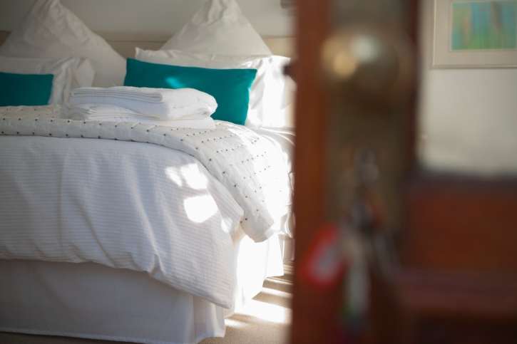 A hotel bedroom. Picture Thinkstock