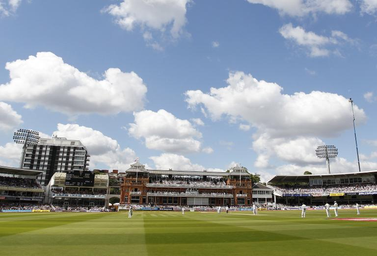 A general view shows Lord's Cricket Ground in north London on July 22, 2011 during a Test match between England and India