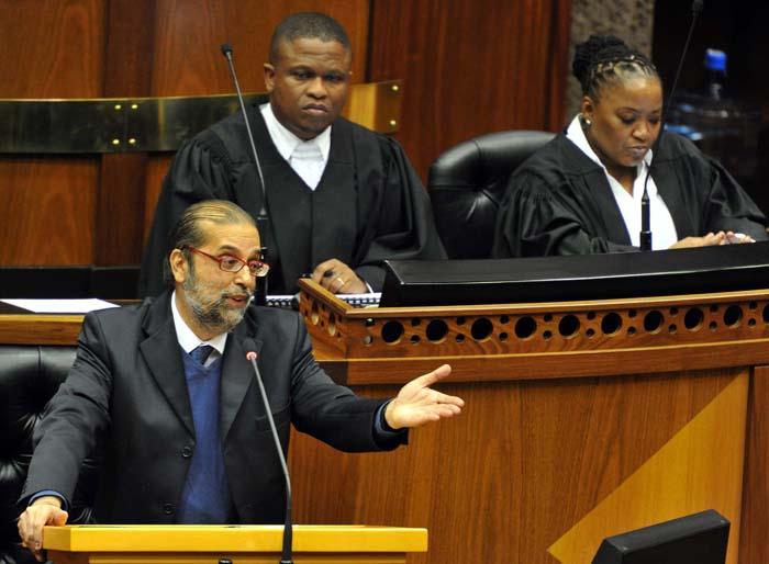 ANC's Yunnus Carrim addressing parliament, Cape Town. Picture: Elmond Jiyane, GCIS
