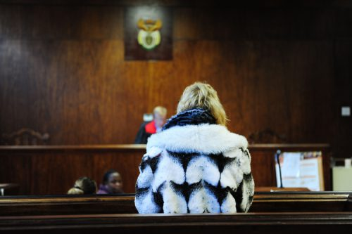 FILE PICUTRE: The wife of the man dubbed the 'Springs Monster' stands in the dock at the Springs Magistrate's Court yesterday.  The woman is facing charges similar to her husband.  Picture: Tracy Lee Stark