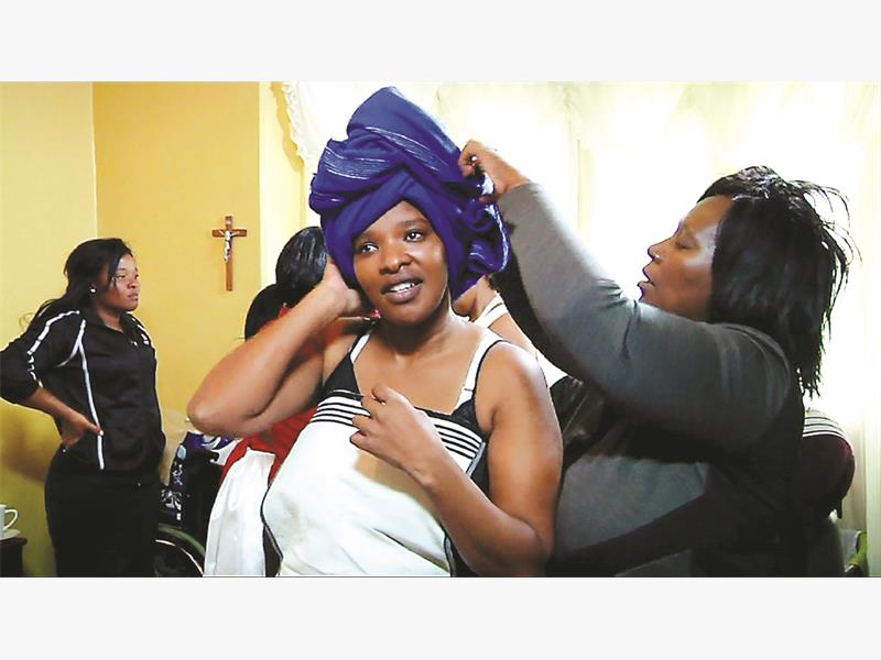 Siziwe Thyobeka prepares for her traditional wedding. Pictures: Supplied.