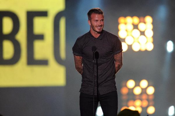 David Beckham at the Nickelodeon Kids' Choice Sports Awards in Los Angeles on July 17, 2014