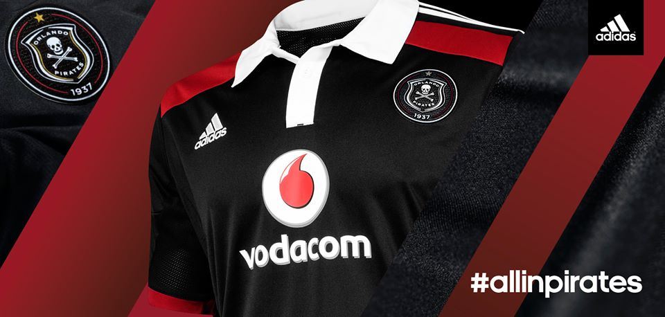 bd8612f9bf0 The newly launched 2014 2015 Orlando Pirates kit. Picture  Orlando Pirates  Facebook Page