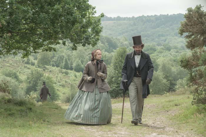 The relationship between Ellen Ternan (Felicity Jones) and Charles Dickens (Ralph Fiennes)  was never publicised.