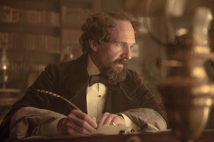 Charles Dickens' (Ralph Fiennes) literary exploits placed him in the spotlight in Victorian England.