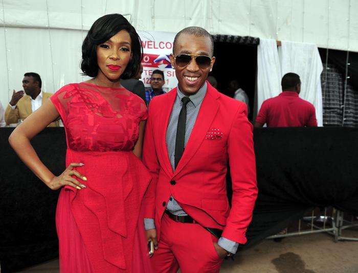 Nhlanhla Nciza and Theo Kgosinkwe of Mafikilizolo. Picture: Gallo Images / City Press / Lucky Nxumalo