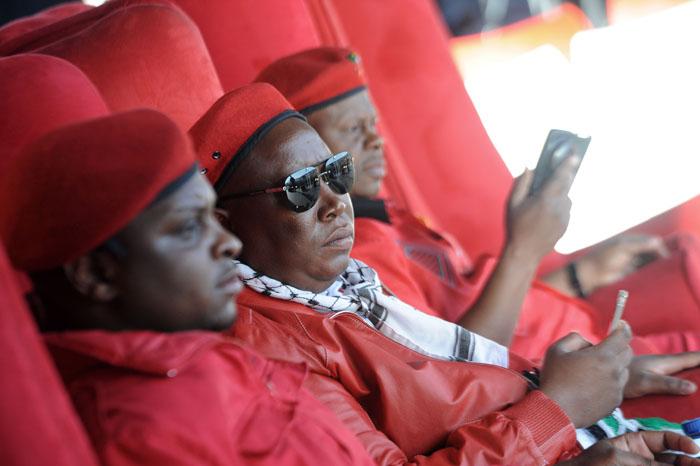 FILE PICTURE: EFF leader Julius Malema (Centre). Picture: Refilwe Modise