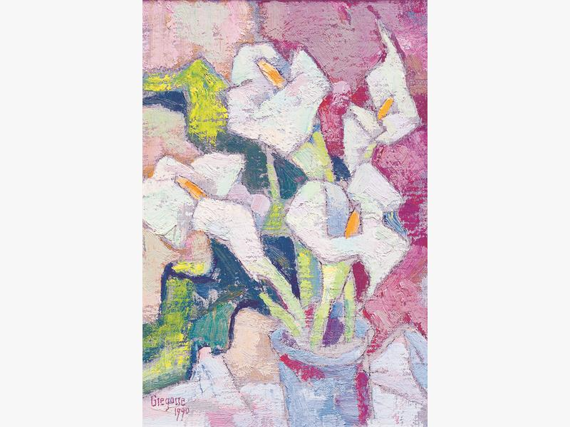 FLORAL LOT. Gregoire Boonzaier's cubist Still Life of Arum Lilies is just one of the 200 paintings on offer at the Bernardi auction. <br />Picture: Supplied