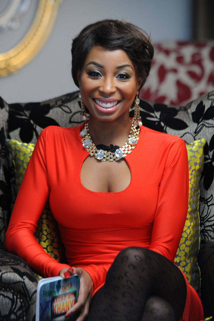 FILE PICTURE: Khanyi Mbau on set for Katch it With Khanyi. Picture: Refilwe Modise