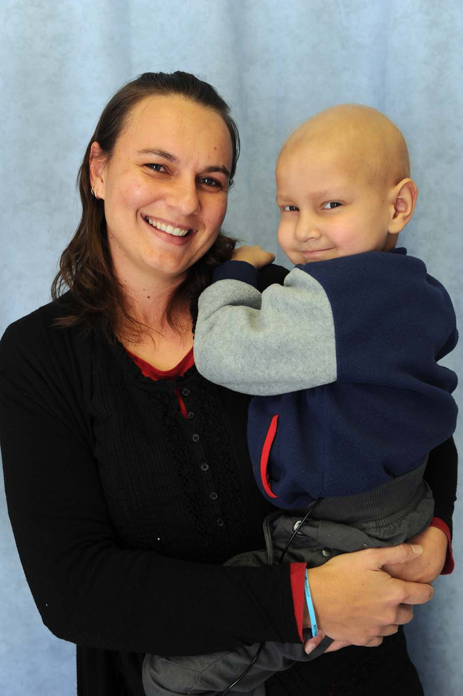 Leukemia sufferer Jordan Pelser is seen with his mother Yolandi at the Unitas Hospital in Centurion, 17 July 2014. Picture: Michel Bega