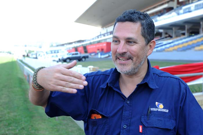 Greyville racecourse's track manager Kurt Grunewald speaks to The Citizen about the courses readiness for the Durban July taking place on Saturday 5 July 2014 during a one on one interview on the track in Durban, 03 July 2014. Picture: Refilwe Modise