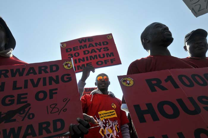 FILE PICTURE: National Union of Metalworkers of South Africa (Numsa) members Pic: Alaister Russell.