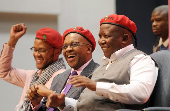 FILE PICTURE: Dali Mpofu, Julius Malema. Picture: Picture: Nigel Sibanda