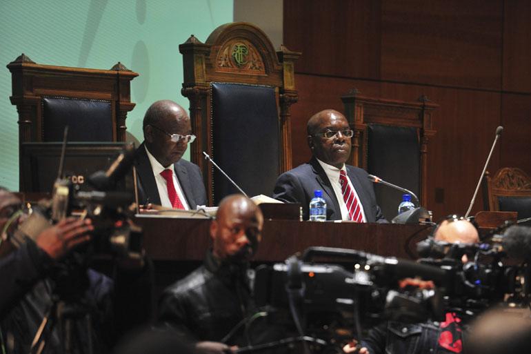 FILE PICTURE: Judge Willie Seriti at the Seriti Commission of Inquiry on the multi-billion rand arms deal, in Pretoria on 17 July 2014 . Picture: Christine Vermooten