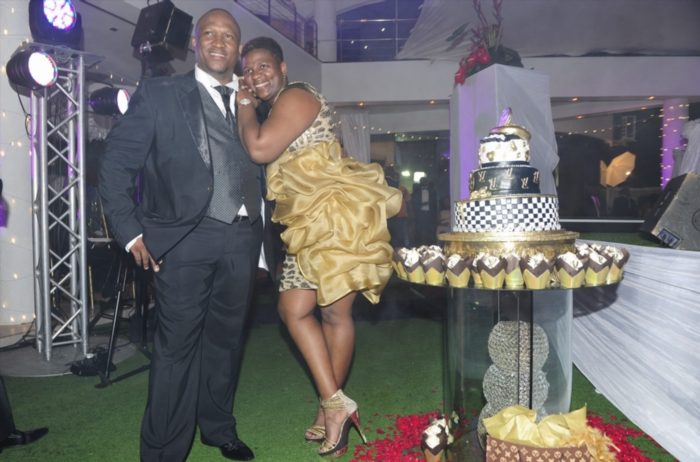 FILE PICTURE: Sbu and Shauwn Mpisane during their year-end party at the Mpisane residence on December 31, 2013, in Durban, South Africa. S'bu and Shawn Mpisane hosted a lavish New Year's Eve party at their home in La Lucia. Picture: Gallo Images