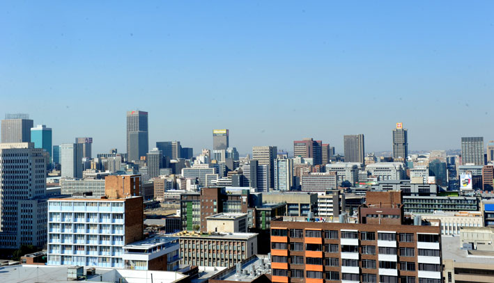 Skyline view of Johannesburg. Picture: Werner Beukes/SAPA