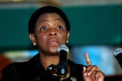 Bathabile Dlamini addresses crowd while allegedly drunk