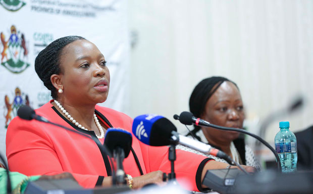 FILE PICTURE:  Nomusa Dube-Ncube addresses a media briefing. (Photo: KZN)