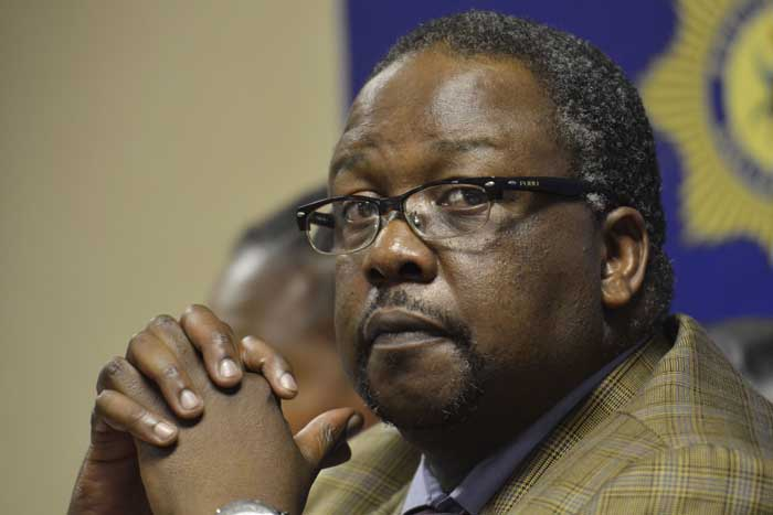 Minister of Police Nathi Nhleko. Picture: Alaister Russell
