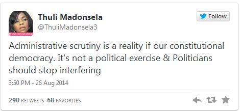 thuli madonsela tweet