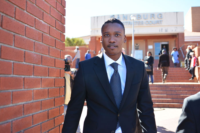 Jacob Zuma's son Duduzane appears at Randburg Magistrate's Court, 22 August 2014, for inquest into an accident involving in February in which one person was killed. Picture: Valentina Nicol