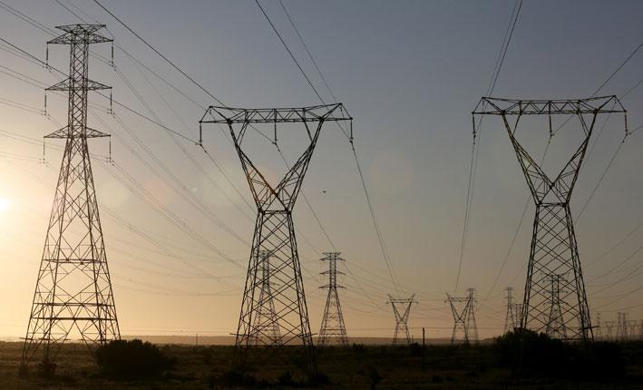 FILE PICTURE: Power lines. Picture: Nardus Engelbrecht/SAPA